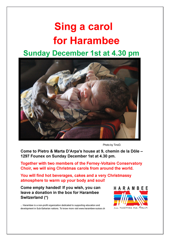 Sing a carol for Harambee